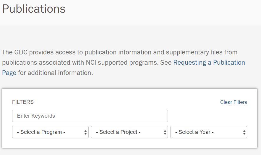 GDC Publication Search